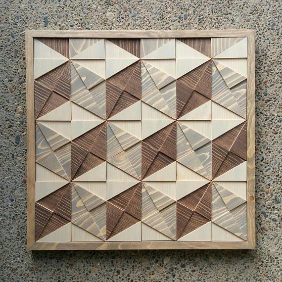 3d Wall Art Geometric Cubes Wood Art Abstract Wooden Mosaic Etsy 3d Wall Art Wood Art Wood Mosaic