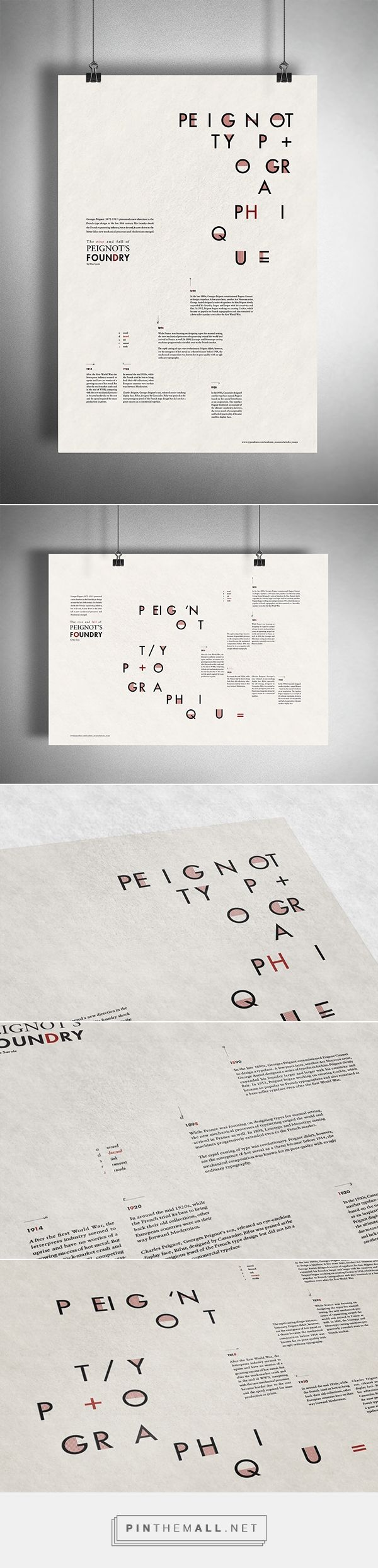 Peignot's Foundry Posters on Behance - created via http://pinthemall.net