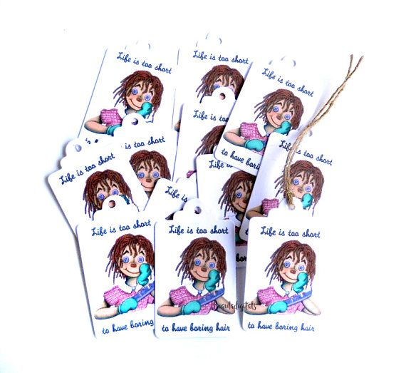 Raggedy Doll Swing Tags Favor Tags Small Swing Tags Raggedy