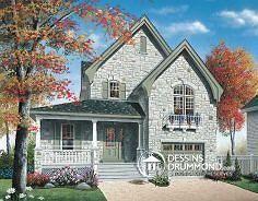 Plan de maison no. W3407 de dessinsdrummond.com