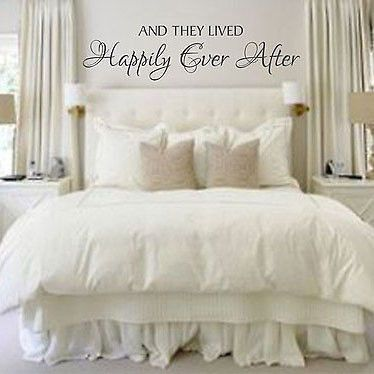 And They Lived Happily Ever After Quote Vinyl Wall Decal Sticker Home and Love