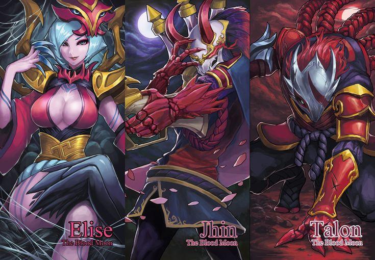 League of Legends Blood Moon Elise,Jhin,Talon, park jun seok on ArtStation at https://www.artstation.com/artwork/5arz1