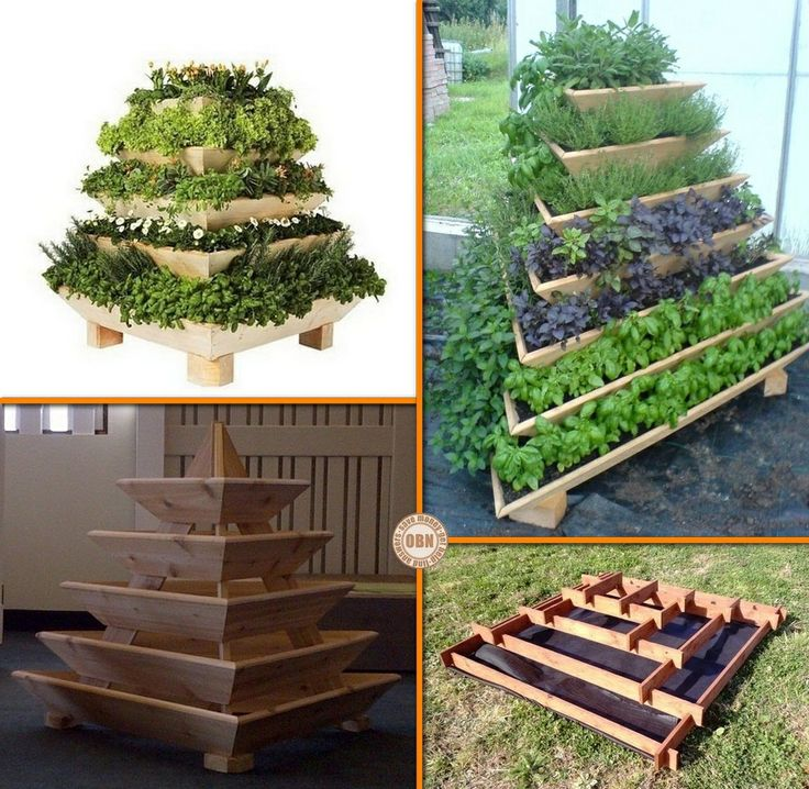 Herb Garden Ideas herb gardens 30 great herb garden ideas Grow Herbs Veggies And Flowers With This Diy Slot Together Pyramid Planter Learn How