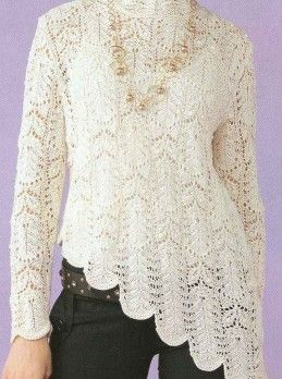 White Sweater free pattern/chart for the experienced knitter.