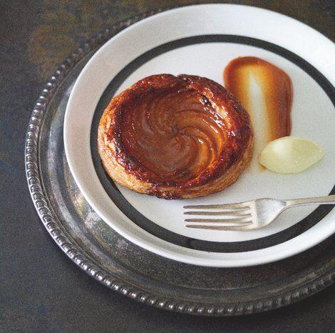 Peach Tart with Caramel Sauce - eatlove - Matt Moran