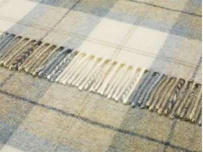 Skye Check Woolen Throw Aqua From Bronte 69 99 By The Bay Mevagissey