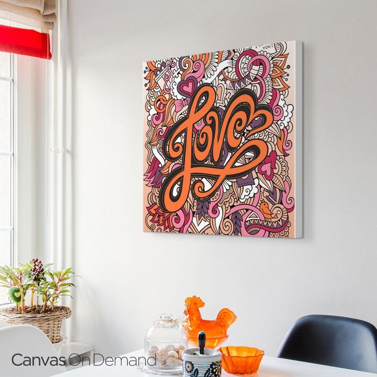 Tell Someone You Love Them With Olga Kostenkos Themed Coloring Canvas Wall Art