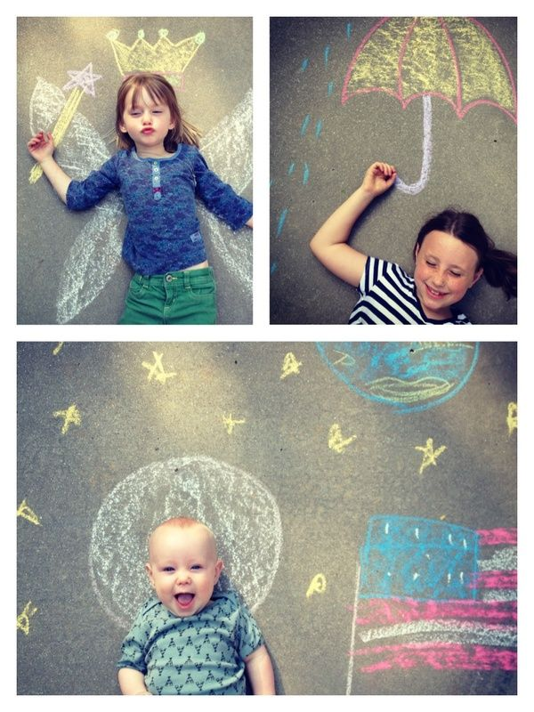 sidewalk chalk fun...love the fairy one !