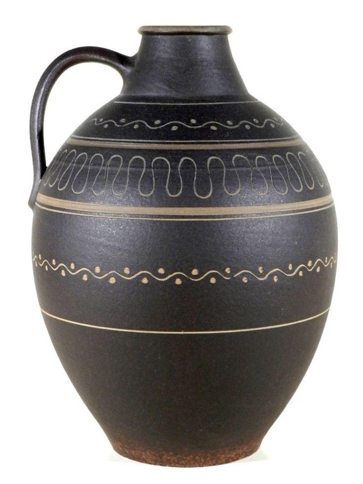 Carl FISCHER Bürgel Keramik ° xxl Krug nach 1930 ° Höhe 32 cm ° Bauhaus Era
