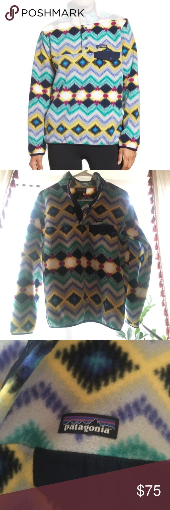 Patagonia synchilla fleece Patagonia synchilla fleece! Worn once, it's a little to small for me. Would be open to trading for a medium synchilla :) great condition—like new! Patagonia Sweaters
