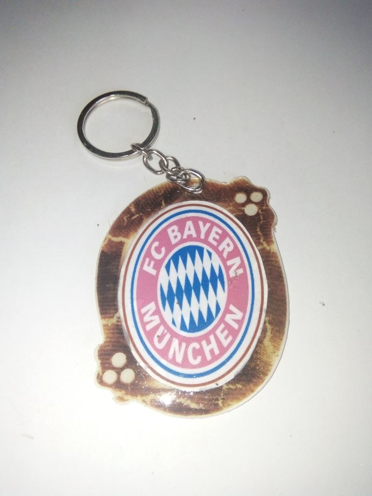 Gantungan Kunci Paralon Bakar Logo Klub Sepakbola BAYERN MUNCHEN