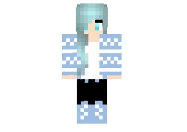 Katelyn My Street Aphmau Winter Skin #minecraft #girl #skins
