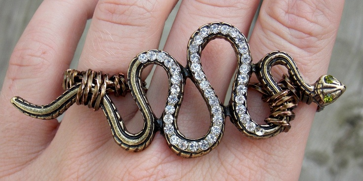 Double Finger Snake Knuckle Ring, Two Finger Serpent Ring. Steampunk Knuckle Duster. $26.00, via Etsy.