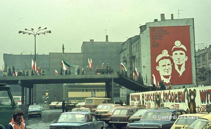Katowice, dworzec, autor: Gaetano Di Chiara, 1980