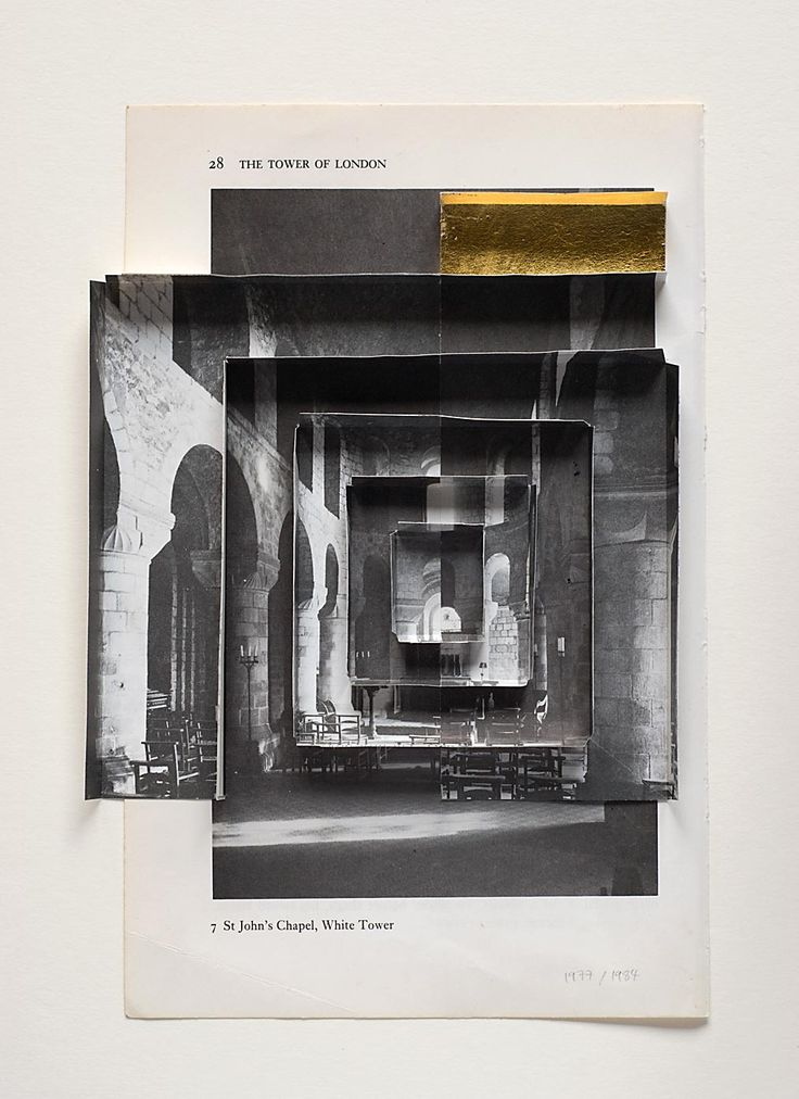 Abigail Reynolds, 'The Universal Now: St John's Chapel 1979/1984', 2010. Cut and tiled vintage book plates.
