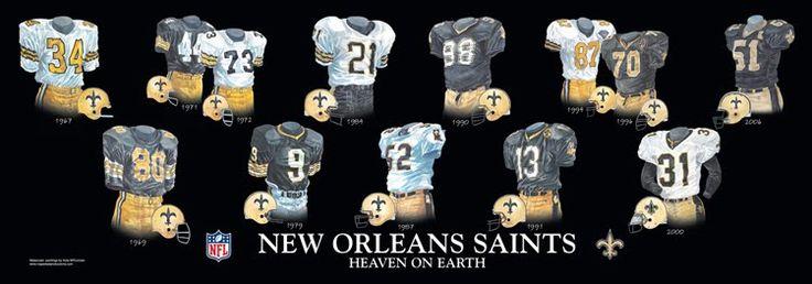 new orleans saints homes | New Orleans Saints - Home Stadiums | Heritage Uniforms and Jerseys
