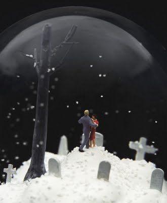 creepy snow globe