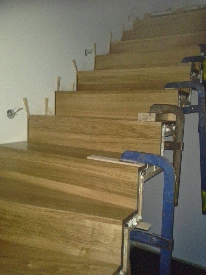 Installation staircase / Installation Treppe