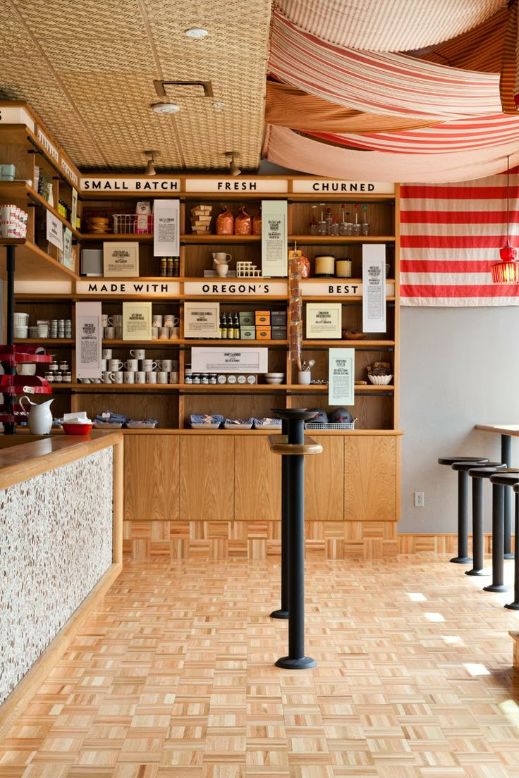 Salt and Straw division st scoop shop - photo by Leela Cyd. This was a #PRAIRIElectric electrical project. #Lighting #Power