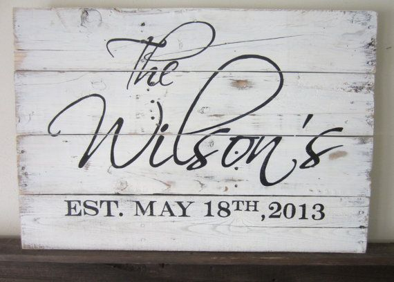 Personalized Last Name and Established Date Country Charm and Rustic Home Decor Wood Sign