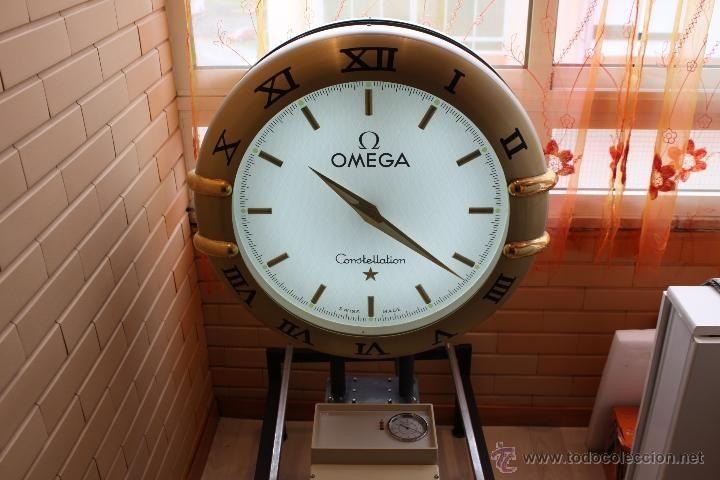 Muy grande y precioso reloj de tienda Omega atomico publicitario de dos faces - Foto 4