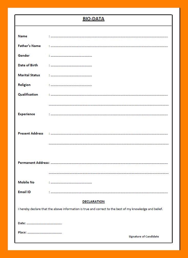 2  job biodata format pdf