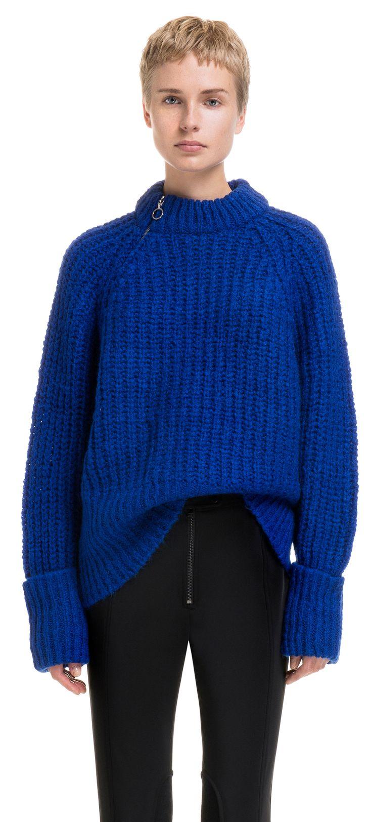 Jersey cremallera azul | BIMBA Y LOLA ®