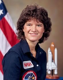 b. May 26, 1951 d. July 23, 2012 Sally Kristen Ride was an American physicist and astronaut. Born in Los Angeles, Ride joined NASA in 1978 and, at the age of 32, became the first American woman in space. After flying twice on the space shuttle Challenger, she left NASA in 1987. Ride remains the youngest American astronaut to travel to space.