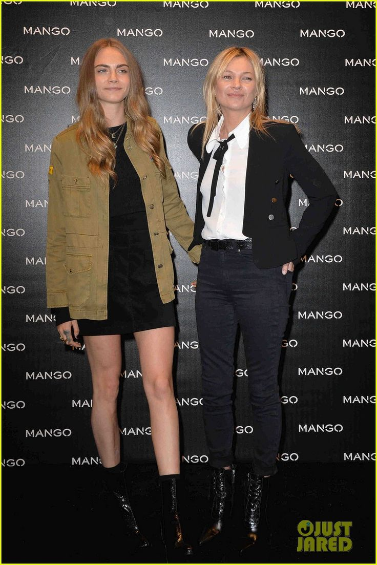 Cara Delevingne & Kate Moss Snap Sexy Selfies Of Each Other After Mango Store Appearance