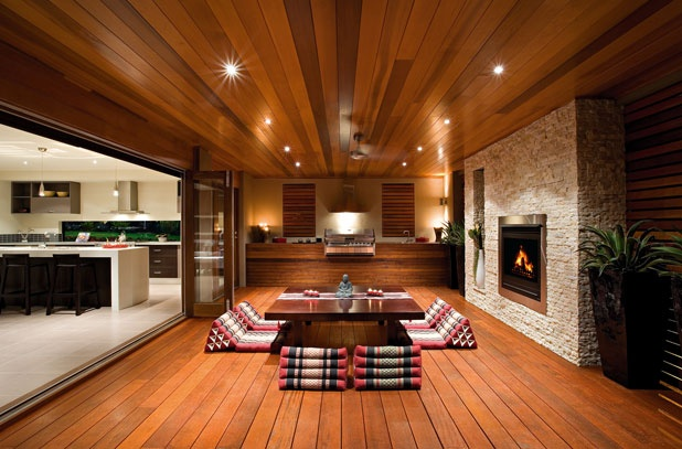 Timber Decking Lining For Your Outdoor Kitchen And
