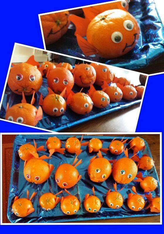 traktatie peuterspeelzaal sinaasappels voor de juf en mandarijn voor kinderen