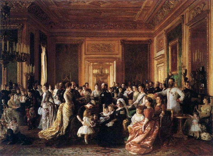 Dronning Victoria omgivet af sin familie på Windsor Castle 1887 165,5x226cm The Royal Collection London