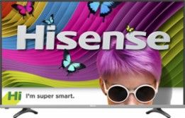 "Hisense - 55"" Class (54.6"" Diag.) - LED - 2160p - Smart - 4K Ultra HD TV with High Dynamic Range - Black - Larger Front"