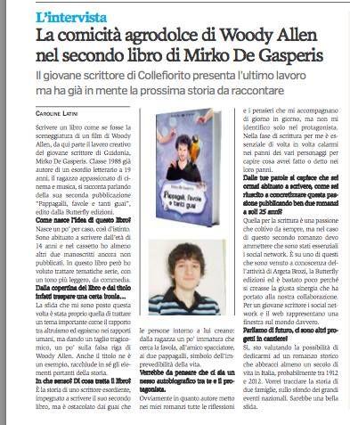 La mia intervista su Dentro Magazine a cura di Caroline Latini
