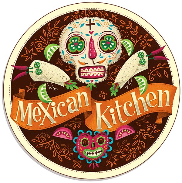 Mexican Kitchen Restaurant in Dublin. Amazing Day of the Dead Art Inspiration