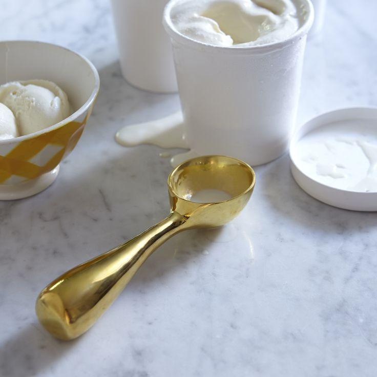 brass ice cream scoop
