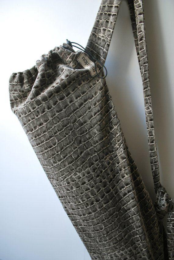 f6689cd6a132 Yoga mat bag Large pilates bag Crocodile animal print velvet