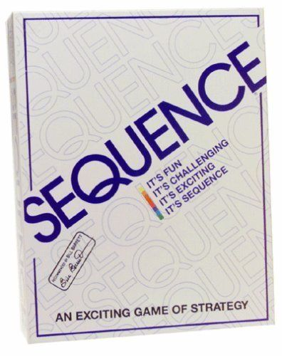 Sequence Game: With touches of canasta, rummy, and poker, this game could easily become a Friday-night favorite.