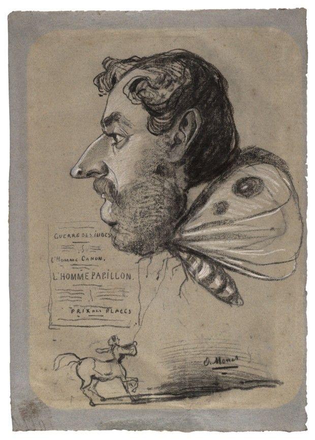 Claude Monet, Caricature of Jules Didier, c. 1860, The Art Institute of Chicago