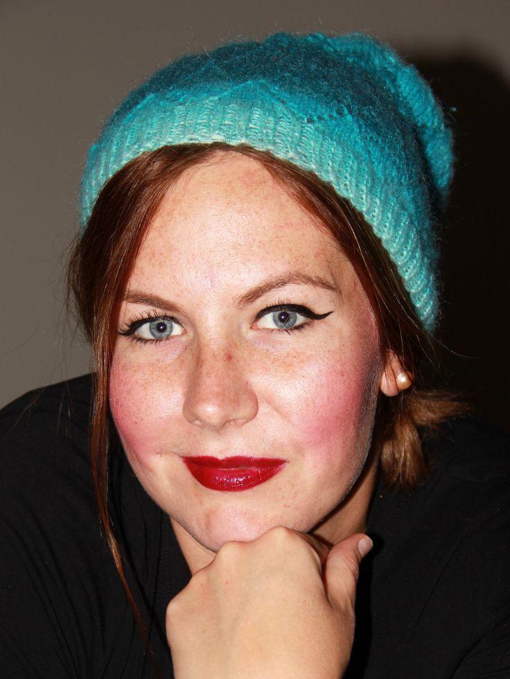 Aquamarin Mohair Knitted Hat by LLCozyCorner on Etsy