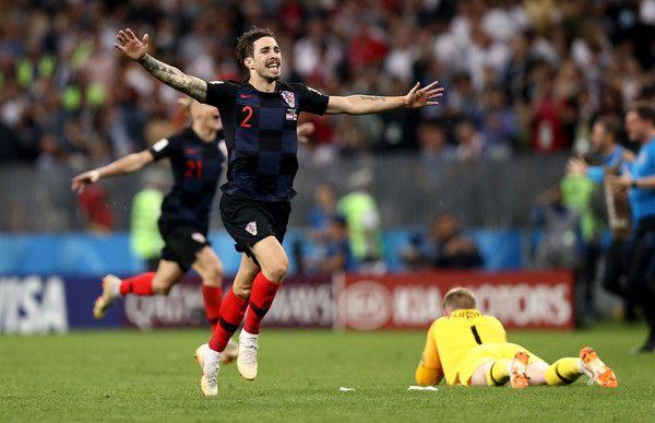 Sime Vrsaljko Photos Photos England Vs Croatia Semi Final 2018 Fifa World Cup Russia World Cup Fifa World Cup Fifa