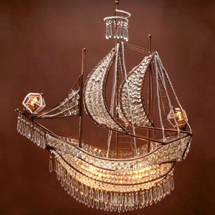 Crystal Ship Chandelier from ZGallerie.  I don't think you can even buy it anymore.  I want SO BAD!!