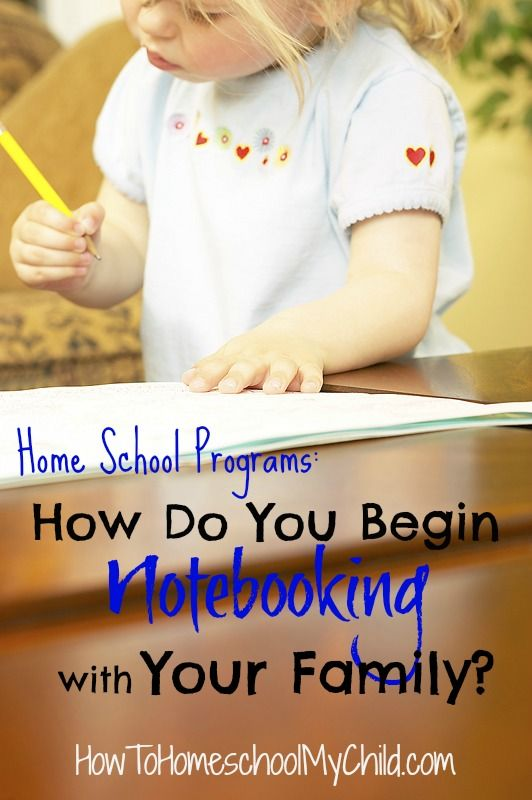 Home School Programs - Discover how to begin notebooking with your family from HowToHomeschoolMyChild.com