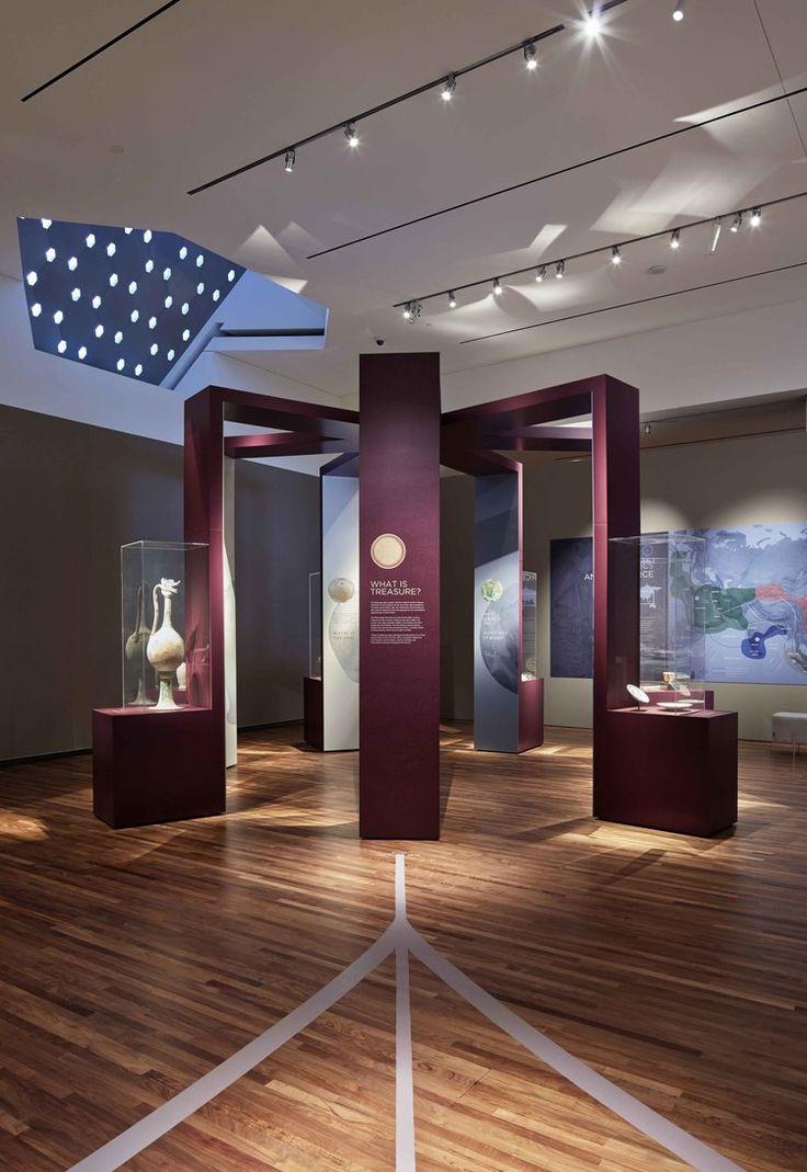 Treasures display, Lost Dhow, Aga Khan Museum, Exhibit Design by: Origin Studios Inc.