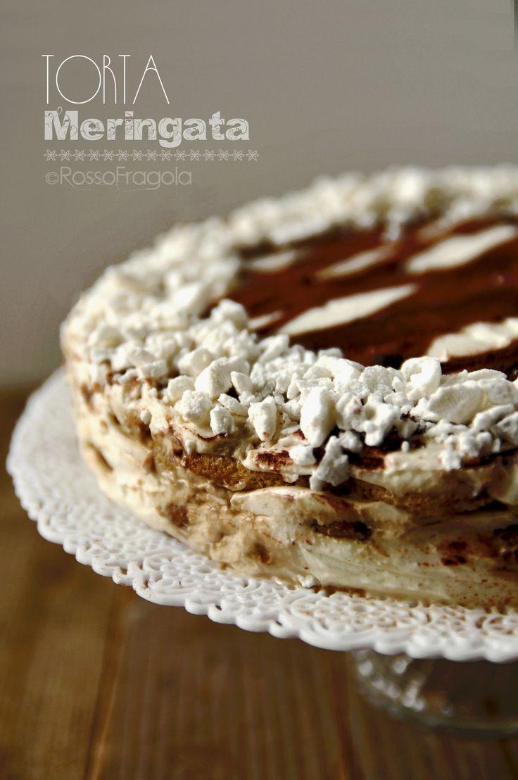 Torta meringata al caffè d'orzo - ricetta golosa
