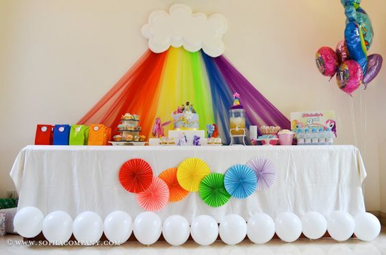 Rainbow Party Backdrop Decorations!