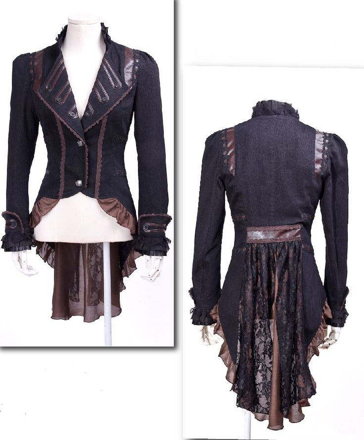 Guilty Concience Jas/Blouse SP020 Zwart/Bruin
