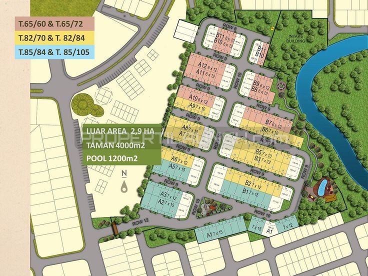 Master plan perumahan cluster Kireina Park BSD.