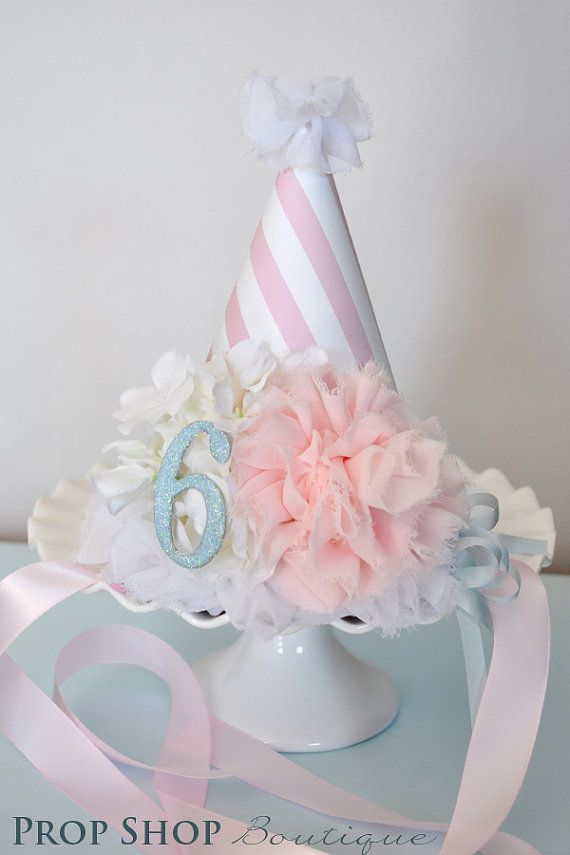 Girls Flower Ballerina Birthday Party Hat by propshopboutique, $28.00