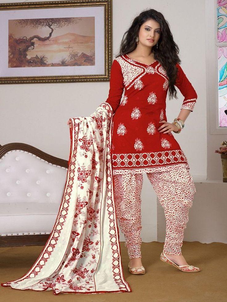 Salwar Kameez Dupatta Unstitched Bollywood Ethnic Crepe Indian Synthetic Suit #Indian #SalwarKameez #TraditionalWeddingPartyWearCasual